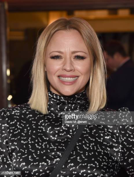 """Kimberley Walsh attends the press night performance of """"Pretty Woman"""" at the Piccadilly Theatre on March 2, 2020 in London, England."""