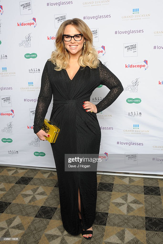 Kimberley Walsh attends the Spectacle Wearer Of the year Awards at 8 Northumberland Avenue on October 7, 2014 in London, England.