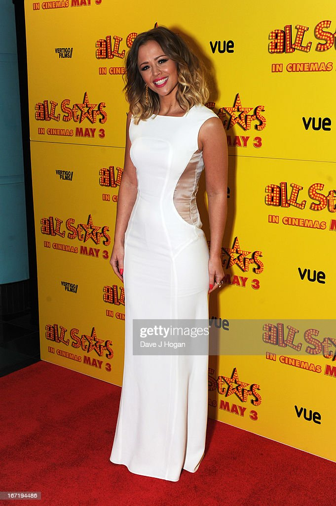 Kimberley Walsh attends the UK premiere of 'All Stars' at The Vue West End on April 22, 2013 in London, England.