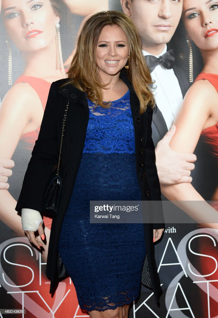 Kimberley Walsh attends the VIP preview evening for 'Katya & Pasha' held at the Lyric Theatre on April 7, 2014 in London, England.