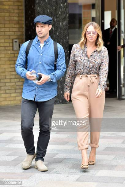 Kimberley Walsh brother Adam Walsh seen at the ITV Studios on July 17 2018 in London England