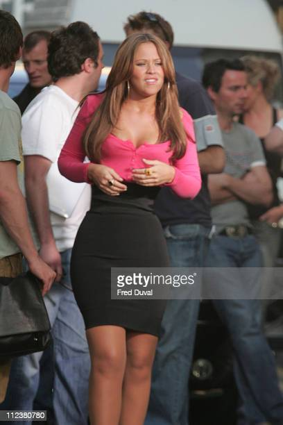 Kimberley Walsh during Girls Aloud on Location for a Sunsilk Commercial April 15 2007 at East London in London Great Britain