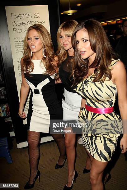 Kimberley Walsh Nadine Coyle and Cheryl Cole attend a book signing for their new autobiography 'Girls Aloud Dreams That Glitter Our Story' at...