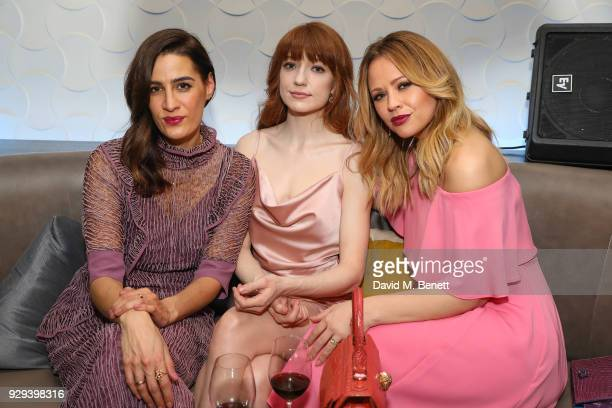 Kimberley Walsh Nicola Roberts and Guest attend The BARDOU Foundation's International Women's Day IWD private dinner at The Hospital Club on March 8...