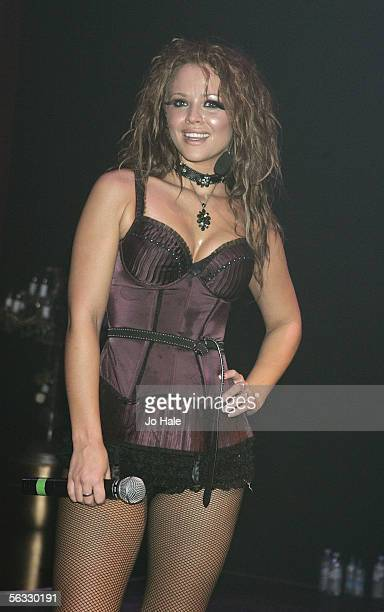 Kimberley Walsh of Girls Aloud performs on stage at popular gay club night GAY at The Astoria on December 3 2005 in London England