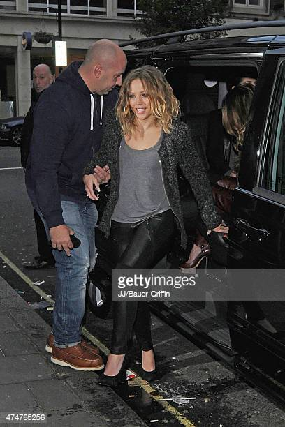 Kimberley Walsh of 'Girls Aloud's' is seen arriving at the BBC Radio 1 Studios on November 12 2012 in London United Kingdom