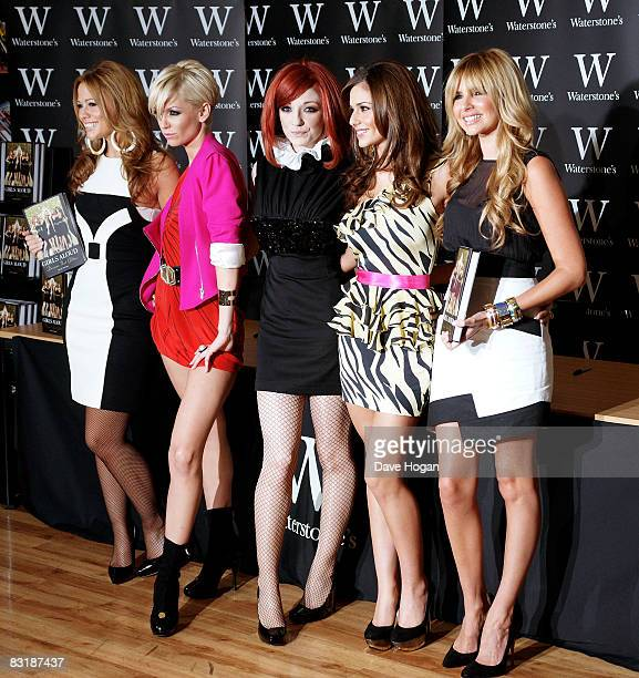 Kimberley Walsh Sarah Harding Nicola Roberts Cheryl Cole and Nadine Coyle attend a book signing for their new autobiography 'Girls Aloud Dreams That...
