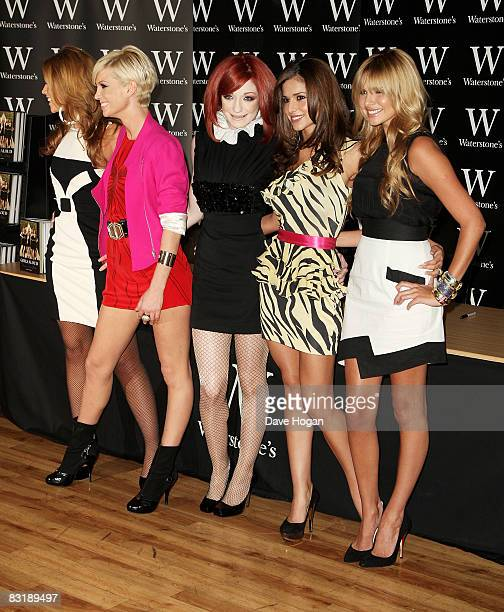 Kimberley Walsh Sarah Harding Nicola Roberts Cheryl Cole and Nadine Coyle of Girls Aloud attend a book signing for their new autobiography 'Girls...