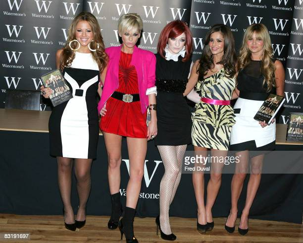 Kimberley Walsh Sarah Harding Nicola Roberts Cheryl Cole and Nadine Coyle from sign copies of their autobiography 'Dreams That Glitter Our Story' at...