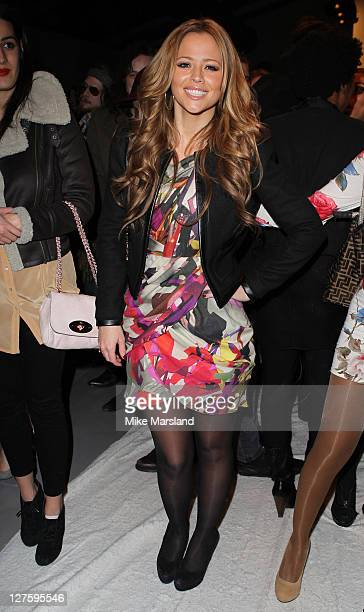 Kimberley Walsh seen in the front row at the PPQ show during London Fashion Week Autumn/Winter 2011 on February 18 2011 in London England