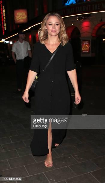 Kimberley Walsh seen leaving Brasserie Zedel after her gig on July 23 2018 in London England