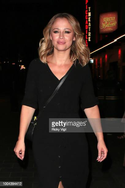 Kimberley Walsh seen leaving Brasserie Zedel after her gig on July 23 2018 in London England