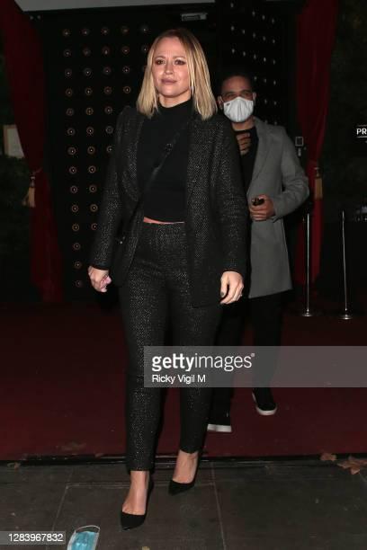 Kimberley Walsh seen leaving Proud Enbankment after Cabaret All Stars last show before lockdown on November 04, 2020 in London, England.