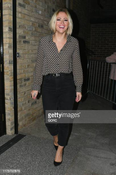 Kimberley Walsh seen leaving the Dominion theatre on September 10 2019 in London England