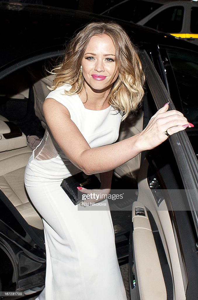 Kimberley Walsh sighting at Nobu restaurant on April 22, 2013 in London, England.