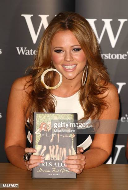 Kimberley Walsh signs copies of Girls Aloud's autobiography 'Dreams That Glitter Our Story' at Waterstone's on October 9 2008 in London England