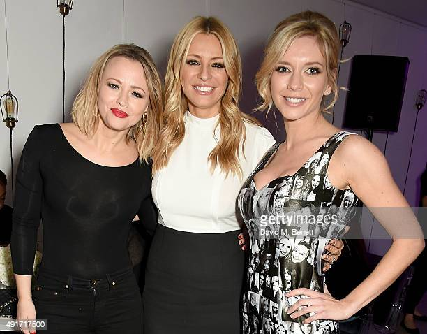 Kimberley Walsh Tess Daly and Rachel Riley attend the Special K Bring Colour Back launch at The Hospital Club on October 7 2015 in London England