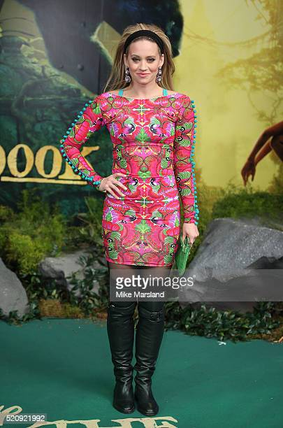 Kimberley Wyatt arrives for the European premiere of 'The Jungle Book' at BFI IMAX on April 13 2016 in London England