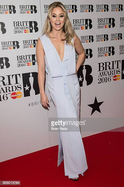 ONLY] Kimberley Wyatt attends the nominations launch for The Brit Awards 2016 at ITV Studios on January 14 2016 in London England