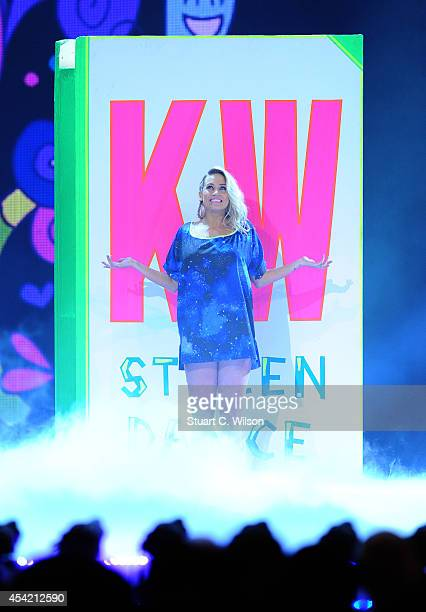 """Kimberley Wyatt performs during the second live show of 2014's """"Got To Dance"""" at Earls Court on August 26, 2014 in London, England."""