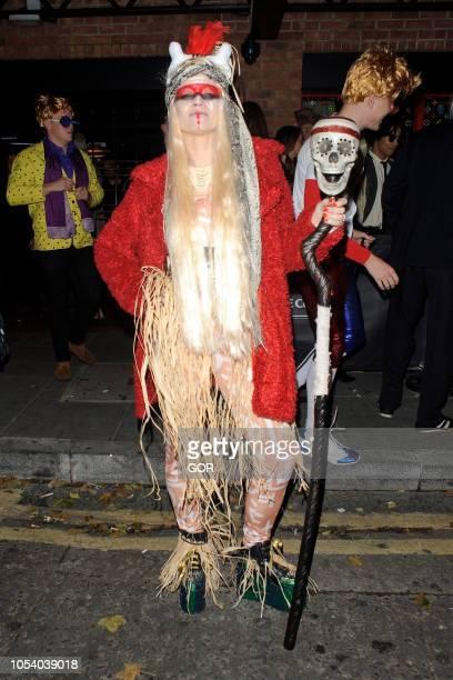 Kimberley Wyatt seen arriving at Hallowzeem Party in Shoreditch on October 26 2018 in London England