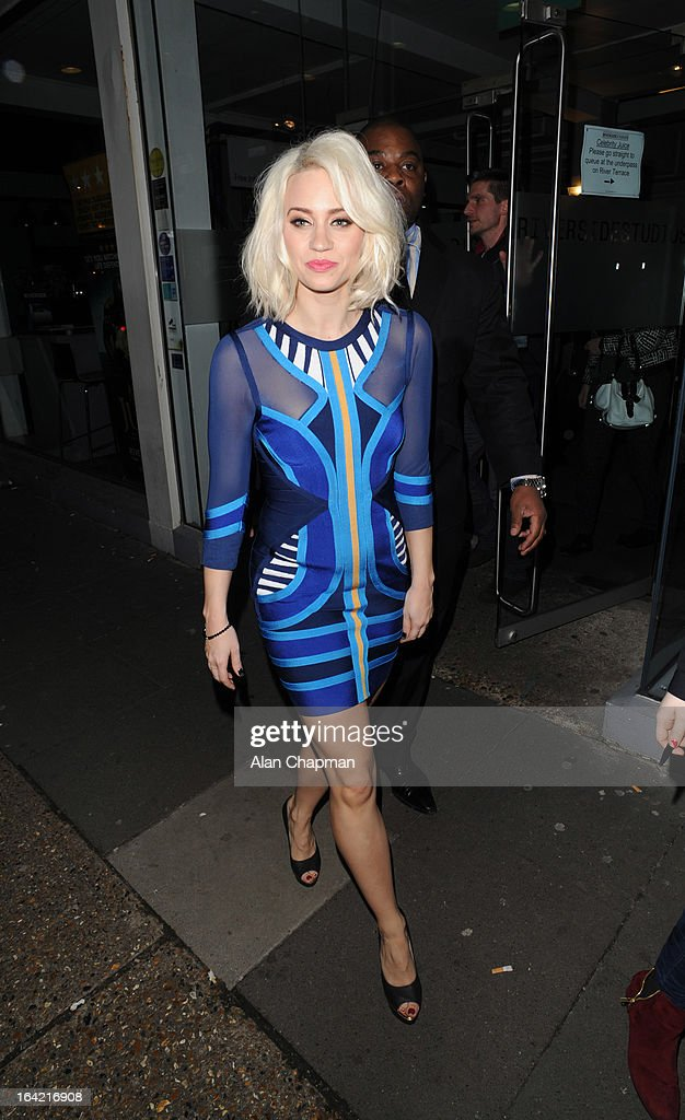 Kimberley Wyatt sighting leaving Riverside Studios on March 20, 2013 in London, England.