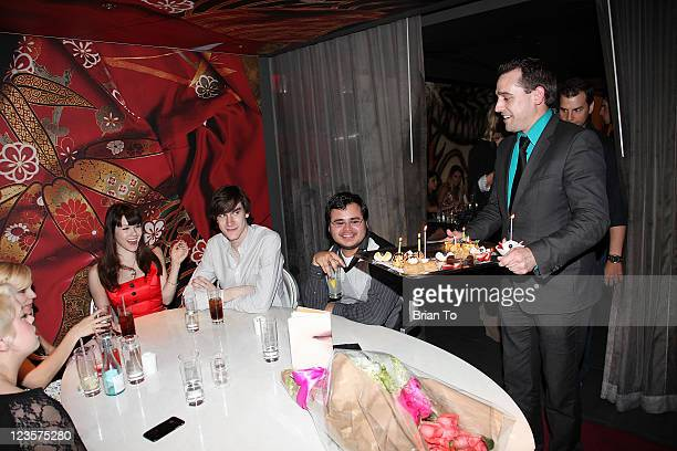 Kimberlina Paramo Angela Marie Playboy's 2011 Playmate of the Year Claire Sinclair boyfriend Marston Hefner Jorge Soriano and guests celebrate Claire...