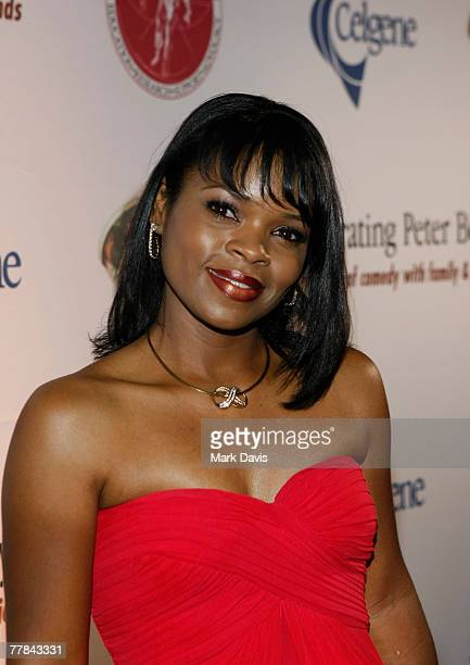 Kimberly Alexander poses at the Comedy to Benefit The IMF's Peter Boyle Fund held at the Wilshire Ebell Theater and Club on November 102007 in Los...