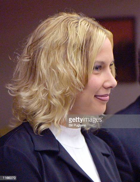Kimberly Anne Mathers attends court during a hearing on charges of disturbing the peace in October 2 2001 at the 37th District Court in Warren MI...