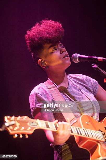 Kimberly Anne performs on stage at Usher Hall on January 19, 2015 in Edinburgh, United Kingdom.