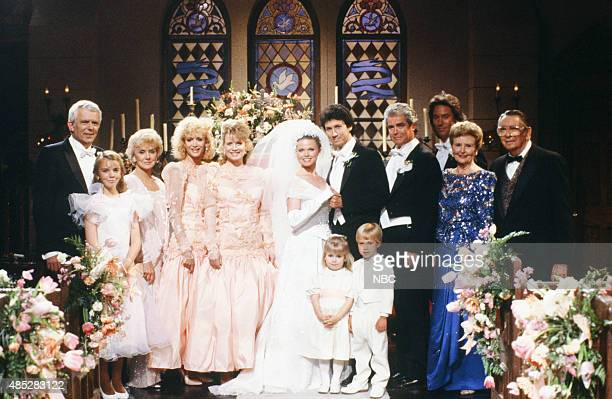 LIVES 'Kimberly Brady Shane Donovan Wedding' Pictured Frank Parker as Shawn Brady Christie Clark as Carrie Brady Reed Peggy McCay as Caroline Brady...