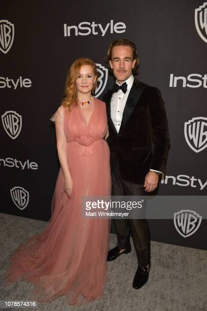 Kimberly Brook and James Van Der Beek attend the 2019 InStyle and Warner Bros 76th Annual Golden Globe Awards PostParty at The Beverly Hilton Hotel...