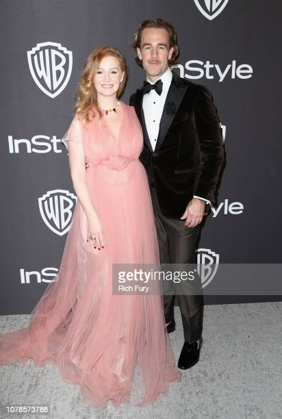 Kimberly Brook and James Van Der Beek attends the InStyle And Warner Bros Golden Globes After Party 2019 at The Beverly Hilton Hotel on January 6...