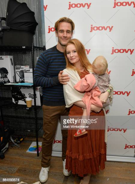 Kimberly Brook James Van Der Beek and daughter at the 7th Annual Santa's Secret Workshop benefiting LA Family Housing at Andaz on December 2 2017 in...