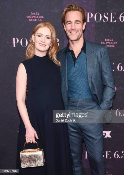 Kimberly Brook Van Der Beek and James Van Der Beek attend the New York premiere of FX series 'Pose' at Hammerstein Ballroom on May 17 2018 in New...