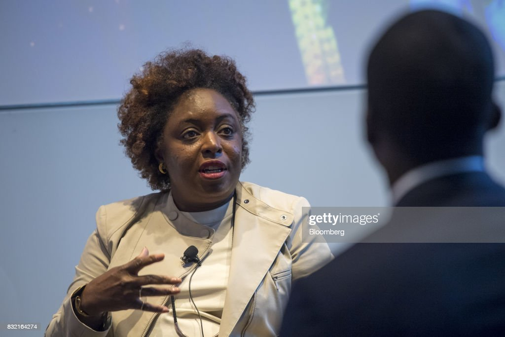 Kimberly Bryant, founder and chief executive officer of Black Girls Code Inc., speaks during The Players Technology Summit in San Francisco, California, U.S., on Tuesday, Aug. 15, 2017. Top leaders in the tech community and venture capital met with professional athletes to exchange ideas and share expertise through panels, discussions and interactive networking to help athletes take control of their careers as business professionals. Photographer: David Paul Morris/Bloomberg via Getty Images