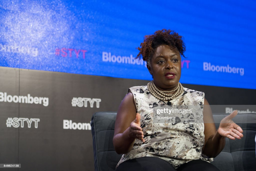 Kimberly Bryant, founder and chief executive officer of Black Girls Code Inc., speaks during a Bloomberg Technology event in New York, U.S., on Wednesday, Sept. 13, 2017. The event, titled Sooner Than You Think at Cornell Tech, spotlights the technology leaders who are grappling with the challenges of disruptive technology and uncovering hidden opportunities. Photographer: Misha Friedman/Bloomberg via Getty Images