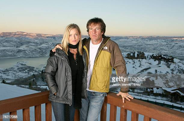 Kimberly Buffington and Dennis Quaid with North Face at The North Face House *Exclusive Coverage*