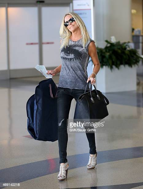 Kimberly Buffington is seen at LAX on April 09 2015 in Los Angeles California