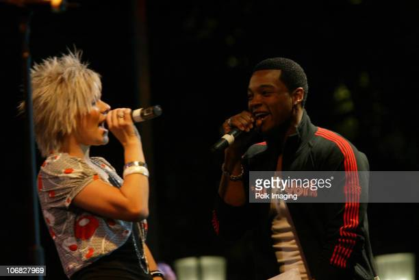 Kimberly Caldwell and Chico Benyson during Tony Orlando and Dawn Perform at the 3rd Annual Super Concert Series at the Grove Show at The Grove in Los...