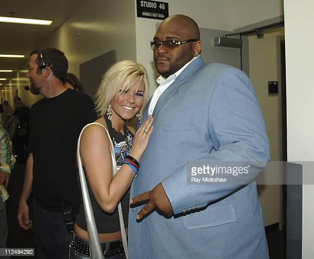 Kimberly Caldwell and Ruben Studdard during 'American Idol' Season 4 Results Show April 6 2005 at American Idol in Los Angeles California United...
