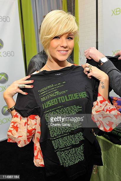 Kimberly Caldwell attends the Xbox 360 Gift Suite In Honor Of The 51st Annual Grammy Awards held at Staples Center on February 7 2009 in Los Angeles...