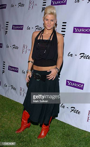 Kimberly Caldwell during Eric Podwall and Shane West Birthday Party - June 18, 2005 in Los Angeles, California, United States.