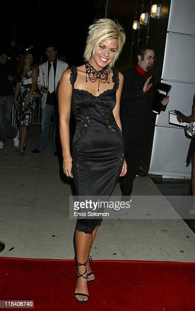 Kimberly Caldwell during Harlottique 2005 Hosted by Kimberly Caldwell at Platinum Live in Studio City California United States