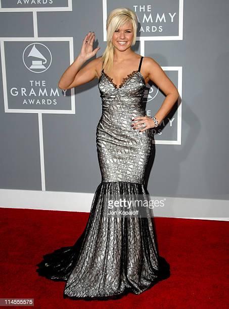 Kimberly Caldwell during The 49th Annual GRAMMY Awards Arrivals at Staples Center in Los Angeles California United States