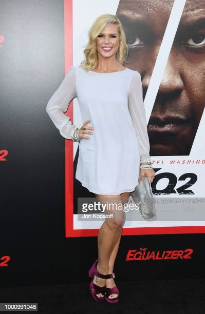 Kimberly CaldwellHarvey attends premiere of Columbia Picture's 'Equalizer 2' at TCL Chinese Theatre on July 17 2018 in Hollywood California
