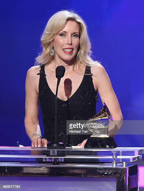 Kimberly Campbell speaks onstage during The 57th Annual GRAMMY Awards premiere ceremony at STAPLES Center on February 8 2015 in Los Angeles California