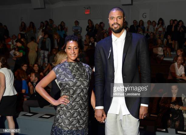 Kimberly Chandler and professional basketball player Tyson Chandler attend the Vera Wang fashion show during MercedesBenz Fashion Week Spring 2014 at...