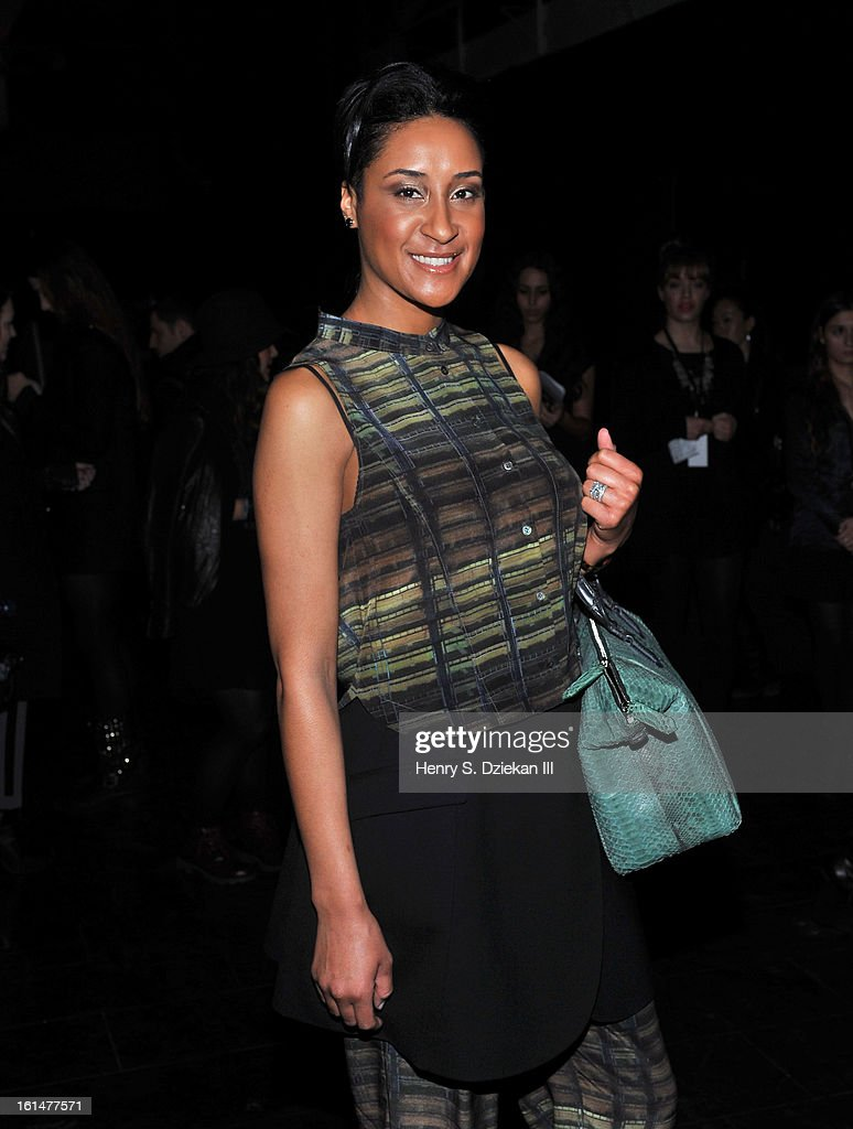 Kimberly Chandler attends Theyskens' Theory during Fall 2013 Mercedes-Benz Fashion Week at Skylight Studios at Moynihan Station on February 11, 2013 in New York City.