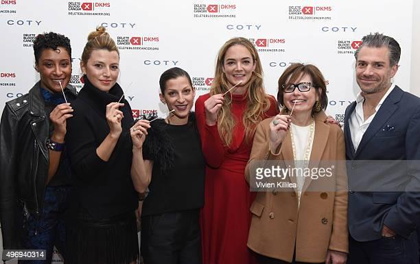 Kimberly Chandler Sara Riff Nevena Borissova Delete Blood Cancer Cofounder Katharina Harf Susie Fishman and Christian Carino attend the Delete Blood...